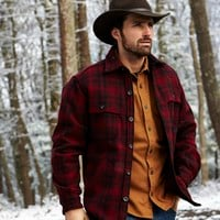 Men's Stag Plaid Wool Shirt by WOOLRICH® The Original Outdoor Clothing Company