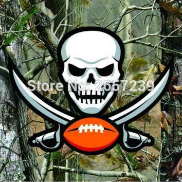 Tampa Bay Buccaneers Camo real tree logo Flag 3x5FT NFL banner150X90CM 100D  Polyester brass grommets custom flag, Free Shipping