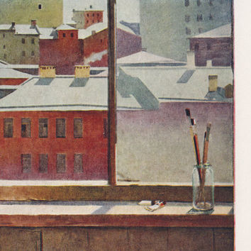 "T. Salakhov ""Moscow Morning"" Postcard -- 1963"