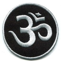 Aum Om Infinity Hindu Hindi Hinduism Yoga Appliques Hat Cap Polo Backpack Clothing Jacket Shirt DIY Embroidered Iron On / Sew On Patch #1
