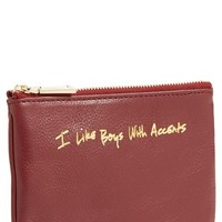 Rebecca Minkoff 'Cory - I Like Boys With Accents' Pouch