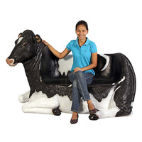 Park Avenue Collection Cowch Holstein Cow Bench