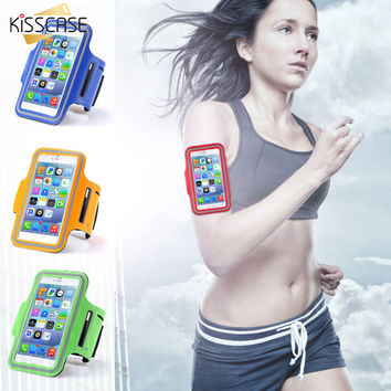 KISSCASE Casual PU Brush Surface Workout Cover Sport Gym Case For iPhone 6 6S 4.7 Arm Band Waterproof Pouch for Apple iphone6 6S