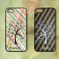 Plaid Pattern Couple Case-iPhone 5, iphone 4s, iphone 4 case, Samsung GS3-Silicone Rubber or Hard Plastic Case, Phone cover
