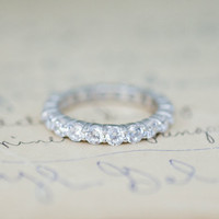 Stackable Eternity Ring - Eternity Band - Wedding Band - Sterling Silver Ring - Wedding Ring - Engagement Ring - Promise Ring