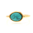 Turquoise Gold Stacking Ring - Rachael Ryen Jewelry