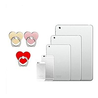 Phone Ring Stand Holder, [Rose Gold Heart] 360 Degree Rotation Phone Grip Kickstand For Universal Smartphones Cell Phone