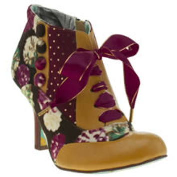 womens irregular choice multi blair elfglow floral boots