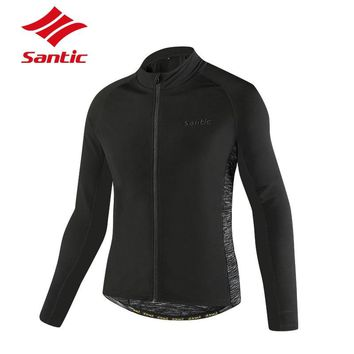 Santic Cycling Jacket Men Autumn Winter 2018 Sports Wear Cycling Clothing Bicycle Bike Jersey Wind Jackets Jaquetas Chaqueta