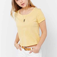 Truly Madly Deeply Raw Deal Cropped Top- Yellow