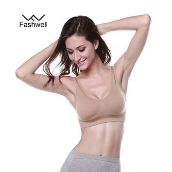Wirefree sleeping active underwear sexy tops plus size bras for women fitness bra top padded brassiere top free shipping