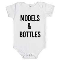 MODELS & BOTTLES BABY one-piece