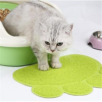 Paw Print Cat Litter Mat Box