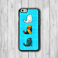 iPhone 6 Case - Fabric Pattern Cute SEALPhone 6 Plus Cases,Blue Jean Floral Geo iPhone 5, 5S, iPhone 4/4S Cover, Personalized Custom Gift