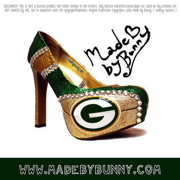 Greenbay Packers NFL Football Sports Shoes with by MadeByBunny