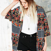 Staring at Stars Curved Hem Kimono Jacket - Urban Outfitters