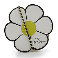 Betsey Johnson Pushing Daisies Cross-Body Bag - Cream