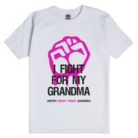 Fight For Grandma Breast Cancer Shirt-Unisex White T-Shirt
