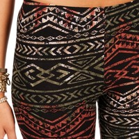 Sale-olive/rust/tan Tribal Printed