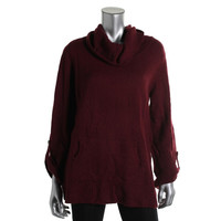 Style & Co. Womens Knit Ribbed Trim Turtleneck Sweater
