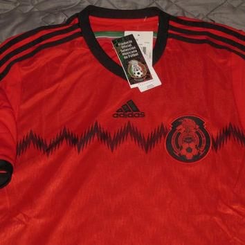 Sale!! Adidas Mexico Away Soccer Jersey World Cup Football Shirt Mexicana Size Large F
