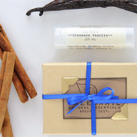 Cinnamon Vanilla Organic Lip Balm - All Natural - Gifts Under 5