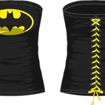 DC Comics Batman Logo Juniors Black Lace Up Corset