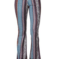 LA Hearts Suede Knit Flare Pants - Womens Pants - Blue