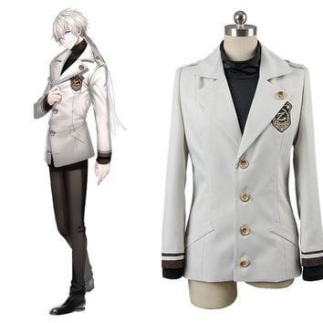 Game Cosplay  Costume Mystic Messenger Zen Heat Resistant Cosplay including Jacket and Shirt for party Halloween