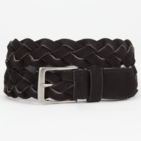 Braided Suede Belt Black  In Sizes