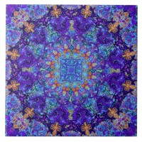 Moroccan romantic colored mandala pattern tile