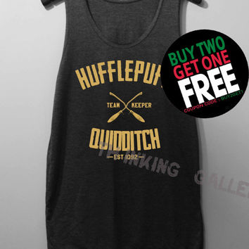 Hufflepuff Quidditch Shirt Harry Potter Shirt Tank Top Tunic TShirt T Shirt Singlet - Size S M L