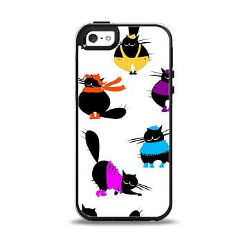 The Cute Fashion Cats Apple iPhone 5-5s Otterbox Symmetry Case Skin Set
