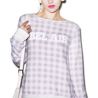 Wildfox Couture Gingham in Bel Air Baggy Beach Jumper Multi