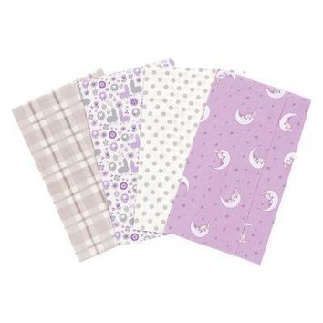 Llamas and Unicorns 4 Pack Flannel Burp Cloth Set