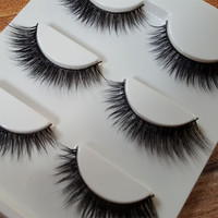 Sexy 100% Handmade 3D mink hair Beauty Thick Long False Mink Eyelashes Fake Eye Lashes Eyelash High Quality Free shipping3d-12