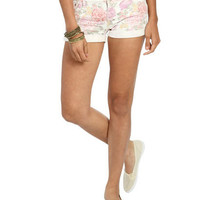 Floral Destroyed Cuff Short | Shop Bottoms at Wet Seal