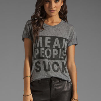 Local Celebrity Mean People Suck Tee in Heather Grey from REVOLVEclothing.com