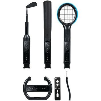 Cta Nintendo Wii Grand Slam 6-in-1 Sports Pack (black)