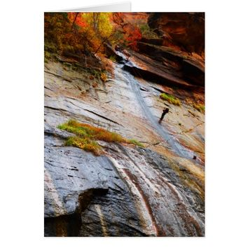 Rock Climber, The Narrows, Zion NP, Blank Inside Card