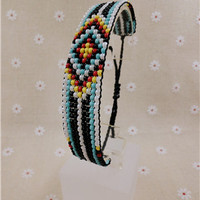 Handmade Hippy Boho Embroidery Beaded Friendship Bracelet