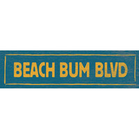 Beach Bum Blvd Wood Sign