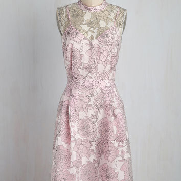 Unfalteringly Feminine Dress in Blush | Mod Retro Vintage Dresses | ModCloth.com