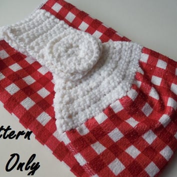 Crochet Towel Topper Pattern - Crochet Pattern - Towel Topper - Instant Download