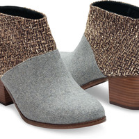 GREY FELT SHINE BOUCLE WOMEN'S LEILA BOOTIES