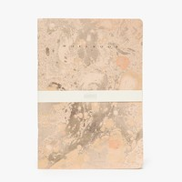 ARMINHO / Gold Marbled Notebook Blank