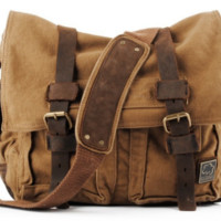 Brown Military Style Messenger Bag