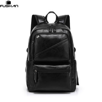 Fashion Brand leather men backpack new high quality man's backpack large capacity men travel bag duffel bag laptop backpack