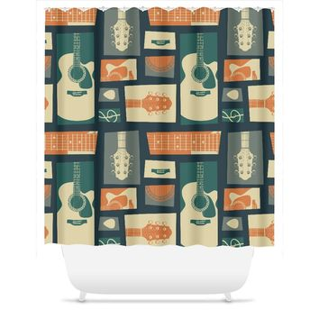 Guitar Lovers Shower Curtain
