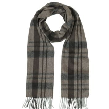 Lanvin Designer Men's Scarves Plaid Cashmere Fringed Men's Scarf